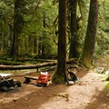 The only backcountry campsite on the trail.- Eagle Creek Hike (Clackamas River Tributary)