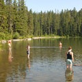 Rock Lake.- Serene + Rock Lakes