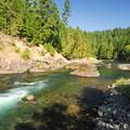 Clackamas River, Alder Flats.- Alder Flats Hike + Campsites