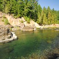 Clackamas River, Alder Flats swimming hole.- Alder Flats Hike + Campsites