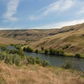 Lower Deschutes River, looking southwest- Deschutes River, Ferry Springs Hike