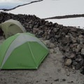 Overnight accommodations at Lunch Counter (roughly 8,700').- Mount Adams, South Climb