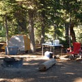 Typical campsite.- Devils Lake Campground
