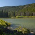 View of Devils Lake looking northwest.- Devils Lake Campground