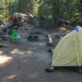Typical campsite- Devils Lake Campground