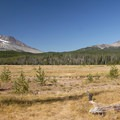 View of South Sister (10,358') and Broken Top (9,177').- Soda Creek Campground