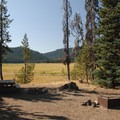 Typical campsite.- Soda Creek Campground