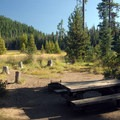 Typical campsite.- Hosmer Lake South Campground