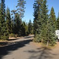Hosmer Lake South Campground.- Hosmer Lake South Campground