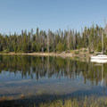 Elk Lake's southern cove.- Elk Lake, Little Fawn Campground