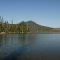 View northwest from Elk Lake's Little Fawn Campground.- Elk Lake, Little Fawn Campground
