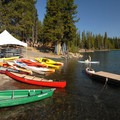 Elk Lake Resort's boat ramp and rental.- Elk Lake Resort Campground