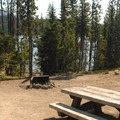 Typical campsite.- Elk Lake Campground
