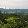 View of Mount Hood (11,250 ft) looking southwest.- Bald Butte Hike