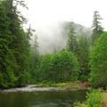 Looking down the Salmon River.- Salmon River, Old Trail