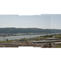 View of Forest Park looking across the Willamette River from the Overlook neighborhood.- Forest Park