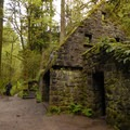 Forest Park's Stonehouse, at the intersection of the Lower Macleay Trail and the Wildwood Trail.- Forest Park