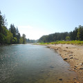 Looking south over the Sandy River.- Glenn Otto Community Park