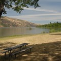 View looking east across the Columbia River.- Mayer State Park