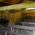 Picnic shelter at Ecola State Park's southern day-use area.- Ecola State Park