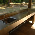 Picnic shelter in the Riverbend day-use area.- Milo McIver State Park