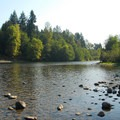 Clackamas River from Riverside day-use area.- Milo McIver State Park Campground