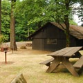 The park's Upper Picnic Area.- Beacon Rock State Park