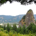 View from the park's Upper Picnic Area.- Beacon Rock State Park