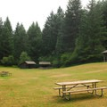 Beacon Rock State Park's Group Campground.- Beacon Rock State Park
