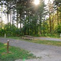 Several of the park's RV camping spots.- Beacon Rock State Park