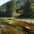 Washougal River above Dougan Falls.- Dougan Creek Campground