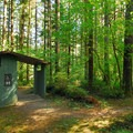 Restroom facilities.- Dougan Creek Campground