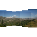 Panoramic view of Mount St. Helens (8,366') and Coldwater Peak (5,727') on the left.- Johnston Ridge Boundary Trail