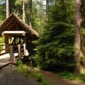 Footbridge near Silver Falls State Park Campground.- Silver Falls State Park