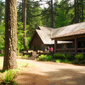 South Falls Lodge.- Silver Falls State Park Campground