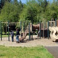 Playground in the campground's RV loop.- Silver Falls State Park Campground