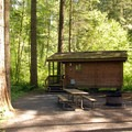 Typical cabin.- Silver Falls State Park Campground