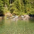 Pool at Slide Falls.- Opal Creek Hiking Trail