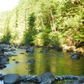 North Fork of the Santiam River.- Shady Cove + Cedar Creek Campground