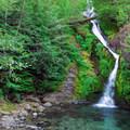 Small cascade near Cedar Creek campsites.- Shady Cove + Cedar Creek Campground