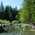 Three Pools day-use recreation area.- Opal Creek Wilderness