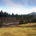 View of the Breitenbush River valley from Sacred Pools.- Breitenbush Hot Springs