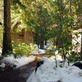 Rental cabins at the Breitenbush Retreat and Conference Center.- Breitenbush Hot Springs