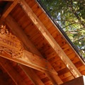 Entrance pavilion at Breitenbush Retreat and Conference Center.- Breitenbush Hot Springs