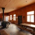 Wanoga Sno-Park warming hut.- Wanoga Sno-Park Sledding Hill