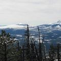 Belkanp Crater (6,877') and Mount Washington (7,795').- Black Butte, East Approach