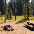 Typical campsite.- Little Lava Lake Campground