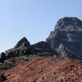 View looking up toward Mount Washington's summit (7,795').- Mount Washington
