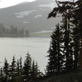 View of South Sister (10,358') and Green Lakes.- Broken Top