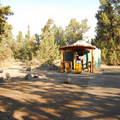 Yurt campsite.- Tumalo State Park Campground